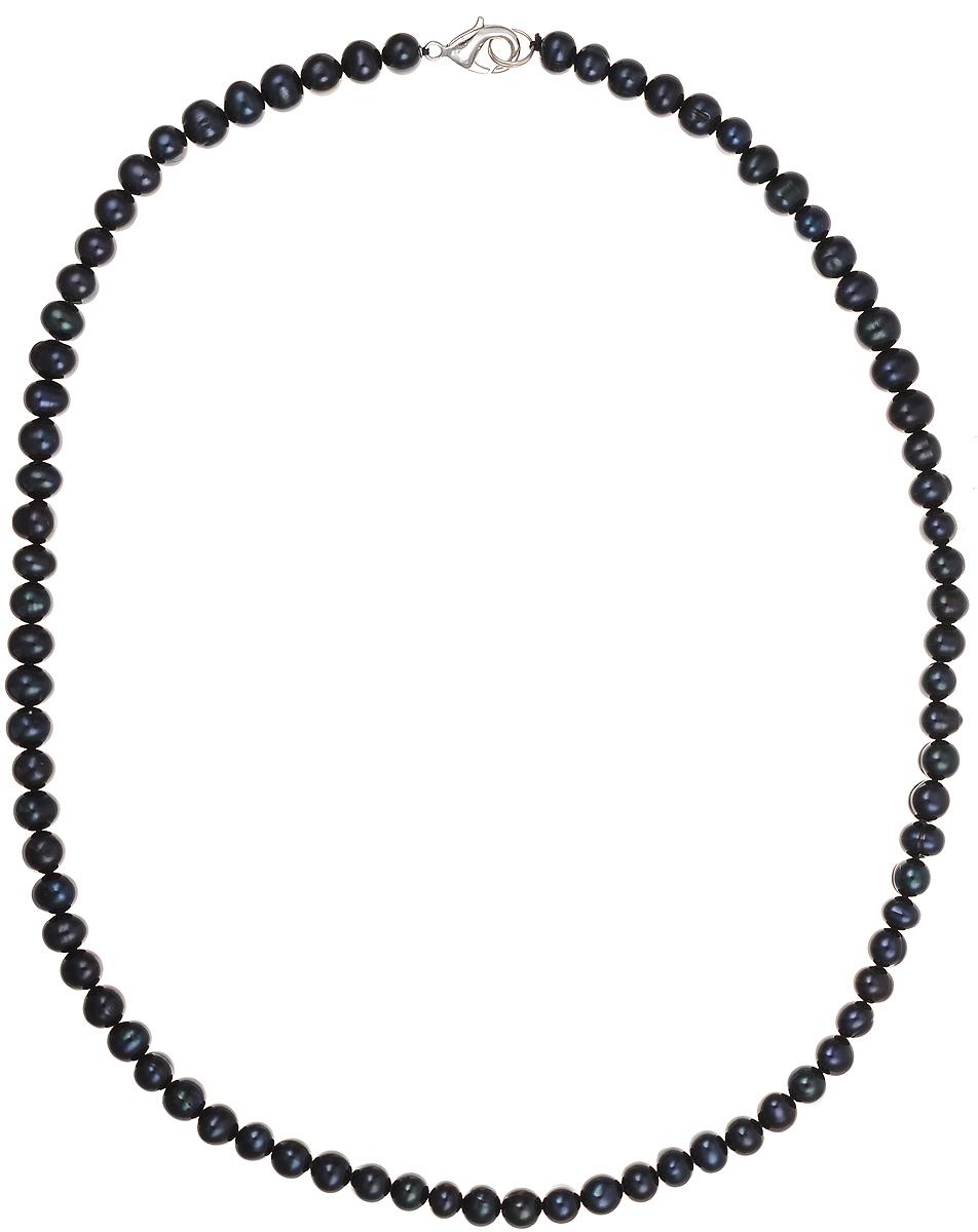 Бусы Art-Silver, цвет: синий, длина 50 см. КЖ7-8АА50-953КЖ7-8АА50-953Бусы Art-Silver подчеркнут изящество и непревзойденный вкус своей обладательницы. Они выполнены из бижутерного сплава и культивированного жемчуга диаметром 7 мм. Изделие оснащено удобным замком-карабином. Культивированный жемчуг — это практичный аналог природного жемчуга. Бусинки из прессованных раковин помещаются внутрь устрицы и возвращаются в воду. Когда бусины покрываются перламутром, их извлекают из моллюска. Форма жемчужины получается идеально ровной с приятным матовым блеском.