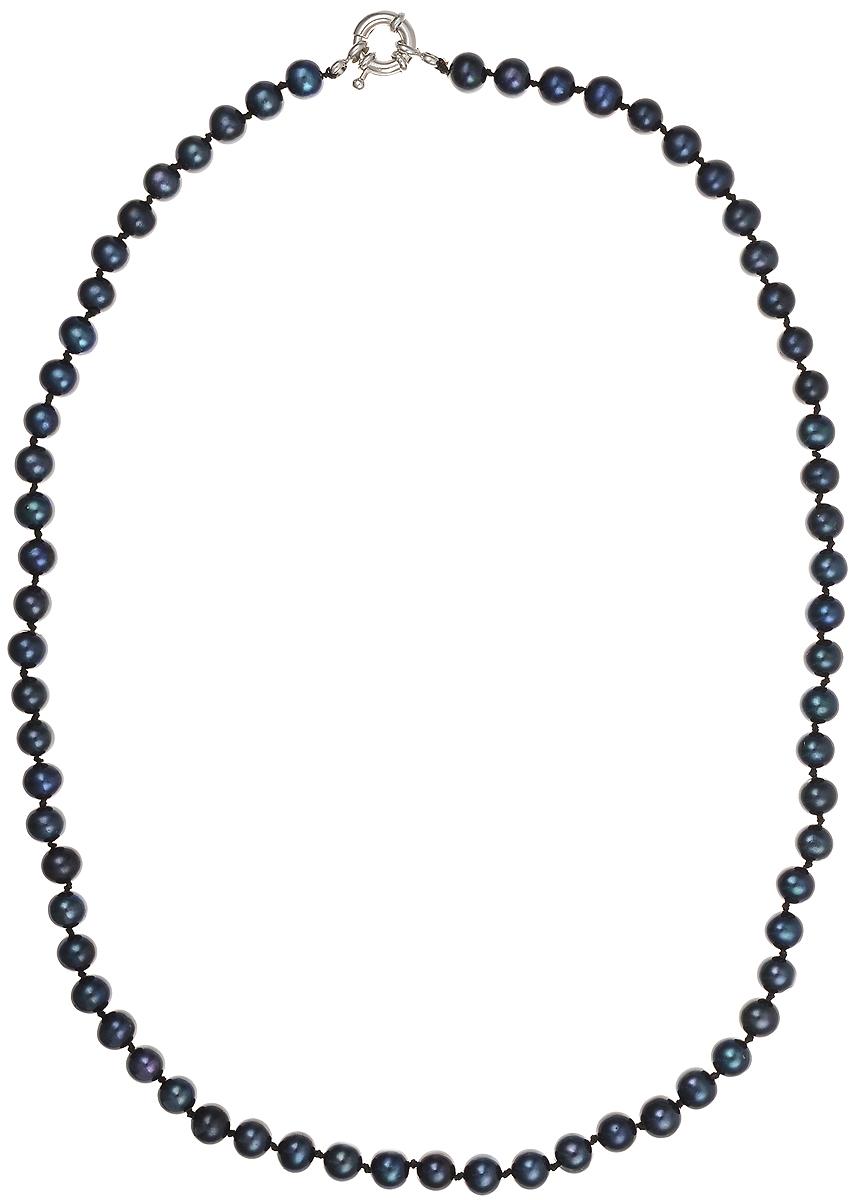 Бусы Art-Silver, цвет: синий, длина 55 см. КЖ6-7АА+55-1443КЖ6-7АА+55-1443Бусы Art-Silver подчеркнут изящество и непревзойденный вкус своей обладательницы. Они выполнены из бижутерного сплава и культивированного жемчуга диаметром 6 мм. Изделие оснащено удобным замком-карабином. Культивированный жемчуг — это практичный аналог природного жемчуга. Бусинки из прессованных раковин помещаются внутрь устрицы и возвращаются в воду. Когда бусины покрываются перламутром, их извлекают из моллюска. Форма жемчужины получается идеально ровной с приятным матовым блеском.