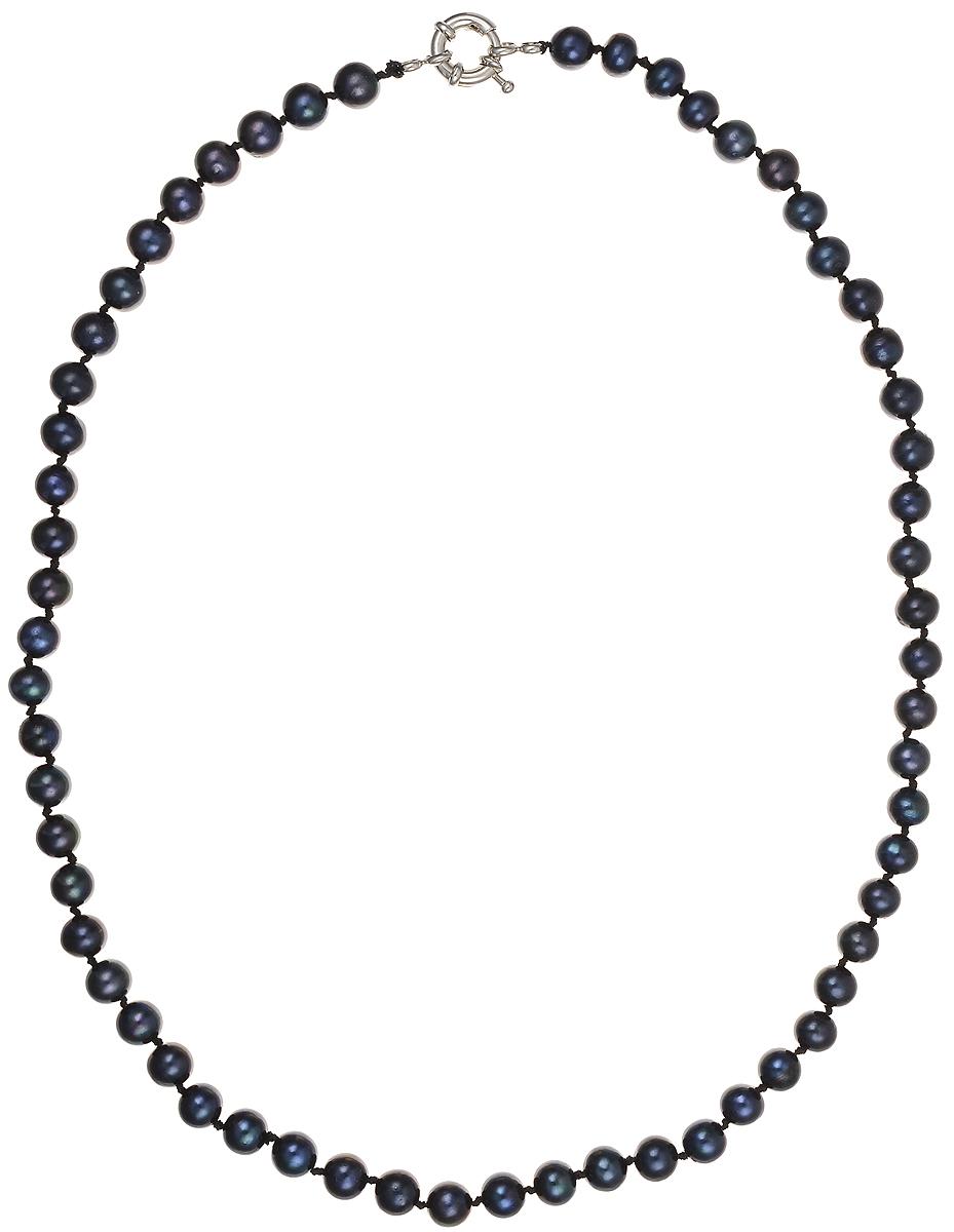 Бусы Art-Silver, цвет: синий, длина 50 см. КЖ6-7АА+50-1308КЖ6-7АА+50-1308Бусы Art-Silver подчеркнут изящество и непревзойденный вкус своей обладательницы. Они выполнены из бижутерного сплава и культивированного жемчуга диаметром 6 мм. Изделие оснащено удобным замком-карабином. Культивированный жемчуг — это практичный аналог природного жемчуга. Бусинки из прессованных раковин помещаются внутрь устрицы и возвращаются в воду. Когда бусины покрываются перламутром, их извлекают из моллюска. Форма жемчужины получается идеально ровной с приятным матовым блеском.