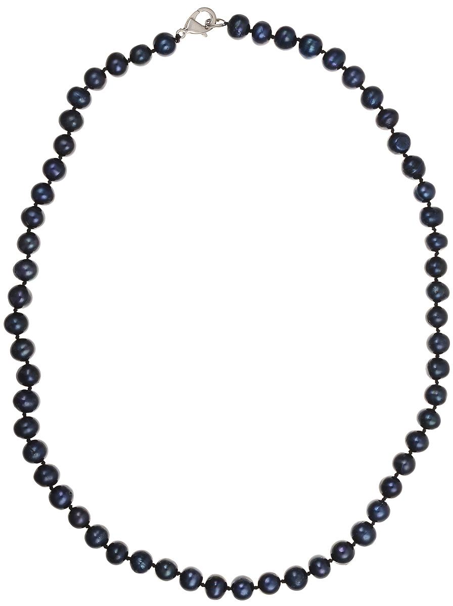 Бусы Art-Silver, цвет: синий, длина 50 см. КЖ8-9А50-414КЖ8-9А50-414Бусы Art-Silver подчеркнут изящество и непревзойденный вкус своей обладательницы. Они выполнены из бижутерного сплава и культивированного жемчуга диаметром 8 мм. Изделие оснащено удобным замком-карабином. Культивированный жемчуг - это практичный аналог природного жемчуга. Бусинки из прессованных раковин помещаются внутрь устрицы и возвращаются в воду. Когда бусины покрываются перламутром, их извлекают из моллюска. Форма жемчужины получается идеально ровной с приятным матовым блеском.