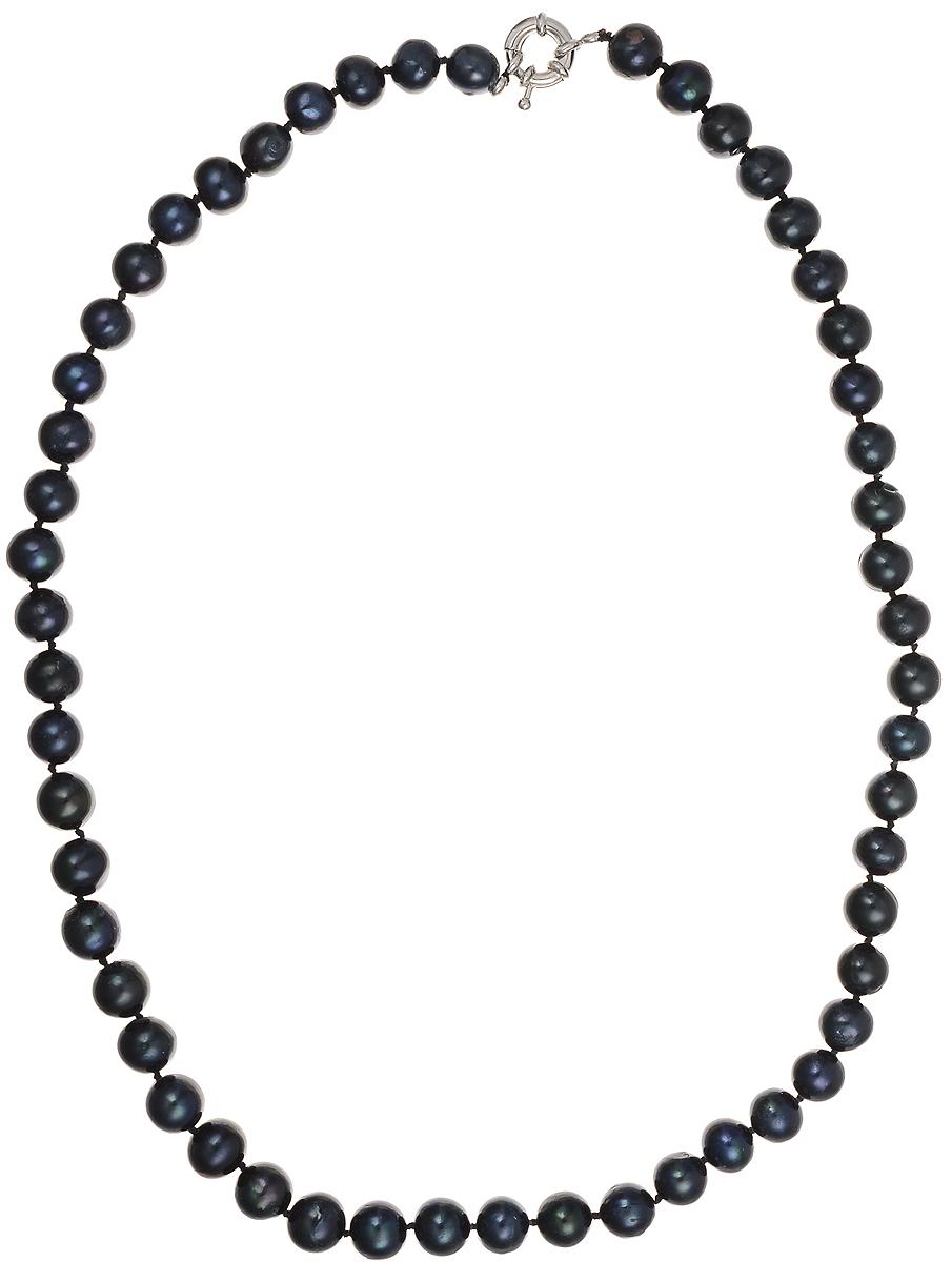 Бусы Art-Silver, цвет: синий, длина 50 см. КЖ9-10АА50-1295КЖ9-10АА50-1295Бусы Art-Silver подчеркнут изящество и непревзойденный вкус своей обладательницы. Они выполнены из бижутерного сплава и культивированного жемчуга диаметром 9 мм. Изделие оснащено удобным замком-карабином. Культивированный жемчуг - это практичный аналог природного жемчуга. Бусинки из прессованных раковин помещаются внутрь устрицы и возвращаются в воду. Когда бусины покрываются перламутром, их извлекают из моллюска. Форма жемчужины получается идеально ровной с приятным матовым блеском.