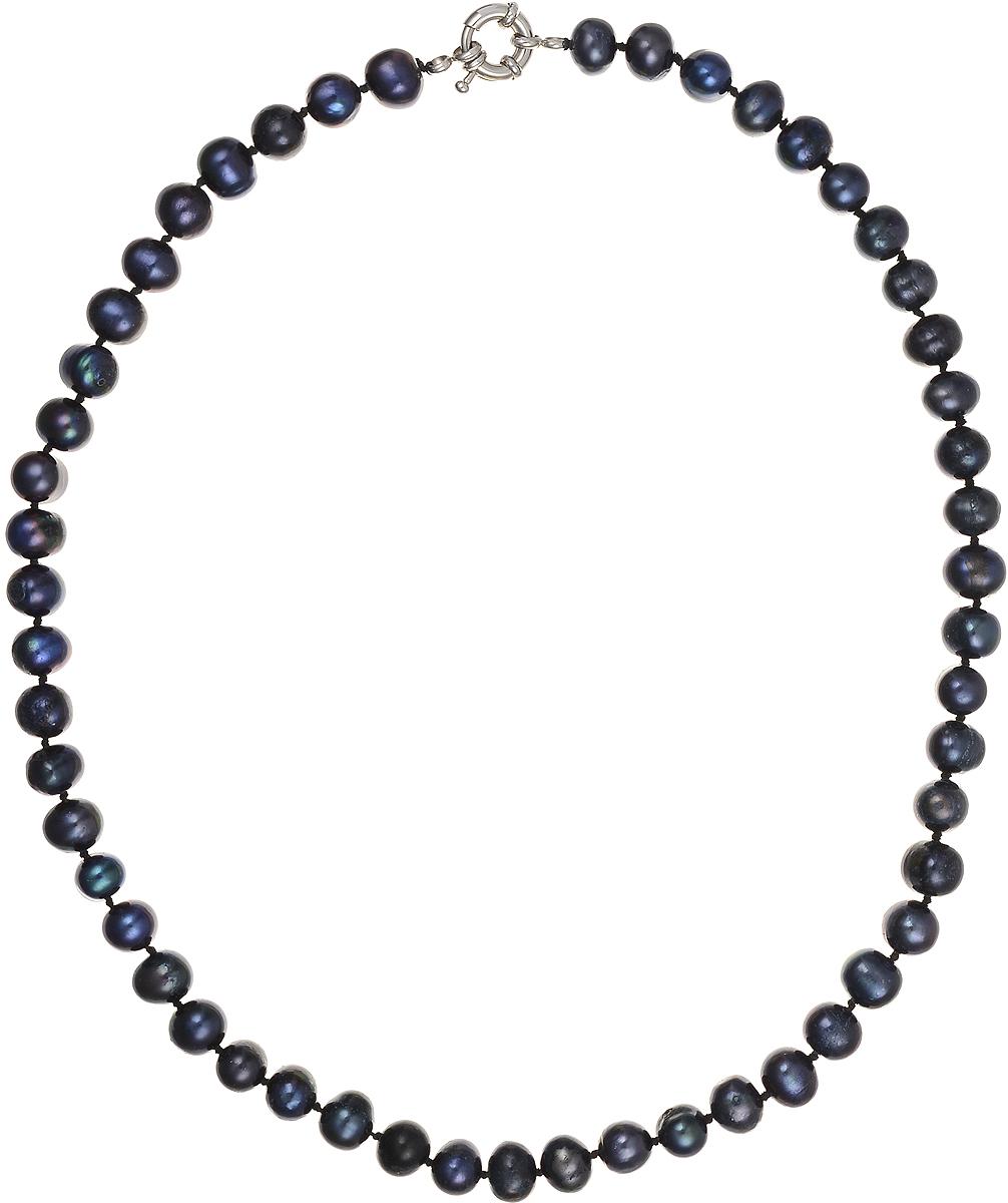 Бусы Art-Silver, цвет: синий, длина 45 см. КЖ8-9А+45-610КЖ8-9А+45-610Бусы Art-Silver подчеркнут изящество и непревзойденный вкус своей обладательницы. Они выполнены из бижутерного сплава и культивированного жемчуга диаметром 8 мм. Изделие оснащено удобным замком-карабином. Культивированный жемчуг - это практичный аналог природного жемчуга. Бусинки из прессованных раковин помещаются внутрь устрицы и возвращаются в воду. Когда бусины покрываются перламутром, их извлекают из моллюска. Форма жемчужины получается идеально ровной с приятным матовым блеском.