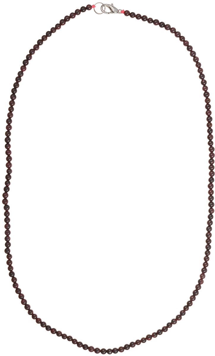 Бусы Art-Silver, цвет: гранатовый, длина 55 см. Г4-55-268Г4-55-268Бусы Art-Silver подчеркнут изящество и непревзойденный вкус своей обладательницы. Они выполнены из бижутерного сплава и гранатовых бусин диаметром 3 мм. Изделие оснащено удобным замком-карабином. Гранат считается талисманом влюбленных, поэтому его дарят как выражение своих чувств любви и дружбы. Также гранат приносит своему владельцу счастье, благополучие и успех. Бусины из граната отличаются особенно живой аурой и энергетикой, сморятся респектабельно и элегантно.
