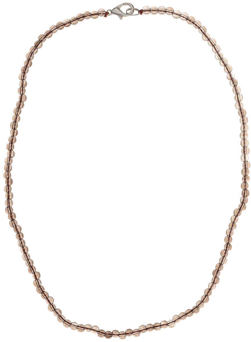 Бусы Art-Silver, цвет: коричневый, длина 45 см. РТ4-45-271РТ4-45-271Бусы Art-Silver подчеркнут изящество и непревзойденный вкус своей обладательницы. Они выполнены из бижутерного сплава и раухтопаза диаметром 4 мм. Изделие оснащено удобным замком-карабином. Раухтопаз (дымчатый кварц) является наиболее ценной разновидностью кварца и, по древним преданиям, выводит из организма негативную энергию, злобу и раздражение. Это один из самых «энергетических» темных камней. Минерал отличается необычной природной окраской, обладает особой утончённой эстетикой и аурой. Украшения с раухтопазами всегда смотрятся респектабельно и элегантно.