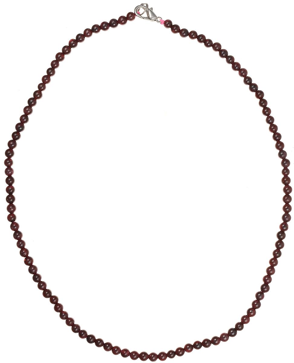Бусы Art-Silver, цвет: гранатовый, длина 45 см. ГР4-45-251ГР4-45-251Бусы Art-Silver подчеркнут изящество и непревзойденный вкус своей обладательницы. Они выполнены из бижутерного сплава и гранатовых бусин диаметром 4 мм. Изделие оснащено удобным замком-карабином. Гранат считается талисманом влюбленных, поэтому его дарят как выражение своих чувств любви и дружбы. Также гранат приносит своему владельцу счастье, благополучие и успех. Бусины из граната отличаются особенно живой аурой и энергетикой, сморятся респектабельно и элегантно.
