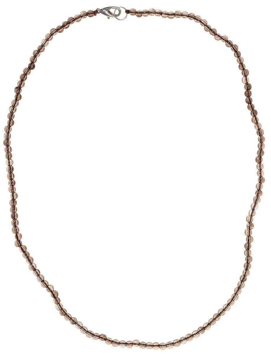 Бусы Art-Silver, цвет: коричневый, длина 50 см. РТ4-50-339РТ4-50-339Бусы Art-Silver подчеркнут изящество и непревзойденный вкус своей обладательницы. Они выполнены из бижутерного сплава и раухтопаза диаметром 3 мм. Изделие оснащено удобным замком-карабином. Раухтопаз (дымчатый кварц) является наиболее ценной разновидностью кварца и, по древним преданиям, выводит из организма негативную энергию, злобу и раздражение. Это один из самых «энергетических» темных камней. Минерал отличается необычной природной окраской, обладает особой утончённой эстетикой и аурой. Украшения с раухтопазами всегда смотрятся респектабельно и элегантно.