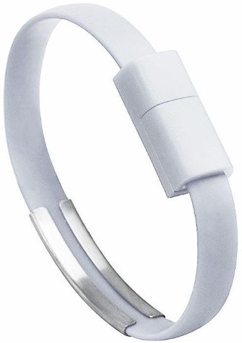 IQ Format, White кабель-браслет USB-Lightning4627104426626Оригинальный кабель IQ Format в виде браслета удобно всегда носить с собой. Предназначен для зарядки мобильных устройств. Также кабель можно использовать для подключения портативных устройств к персональному компьютеру.