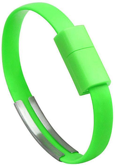 IQ Format, Green кабель-браслет USB-micro USB4627104426633Оригинальный кабель IQ Format в виде браслета удобно всегда носить с собой. Предназначен для зарядки планшетов, смартфонов, электронных читалок и прочих мобильных устройств. Также кабель можно использовать для подключения портативных устройств к персональному компьютеру.