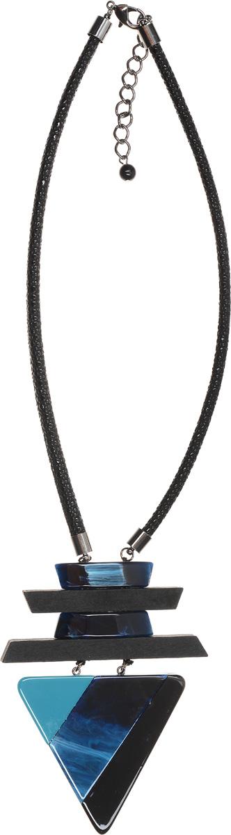 Колье Selena Accenta, цвет: бирюзовый, синий, черный. 1010264110102641Колье Selena Accenta изготовлено из латуни, текстиля, палисандрового дерева и ацетата. Изделие оснащено удобным замком-карабином. Итальянский ацетат - это дорогой высококачественный полимер, широко применяемый в модной индустрии. Он обладает удивительной особенностью имитировать самые разные природные рисунки и фактуры. Коллекция Accenta - это гимн современности! Модели выполнены в стиле элегантный кэжуал и глэм-рок, они органично впишутся в образ и молодых девушек, и взрослых женщин, чьи взгляды на моду свежи и открыты новому. Все украшения Accenta комплектуются между собой и создают гармоничный ансамбль. Украшения можно носить в любое время года, они уместны на празднике, на прогулке и на работе.