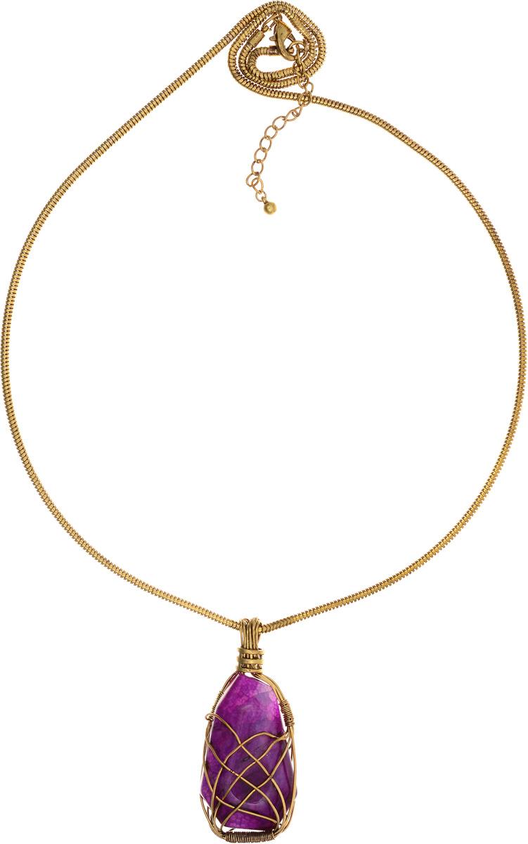 """Колье Selena """"Borgia"""", цвет: золотистый, фиолетовый. 10101381 Selena Селена"""