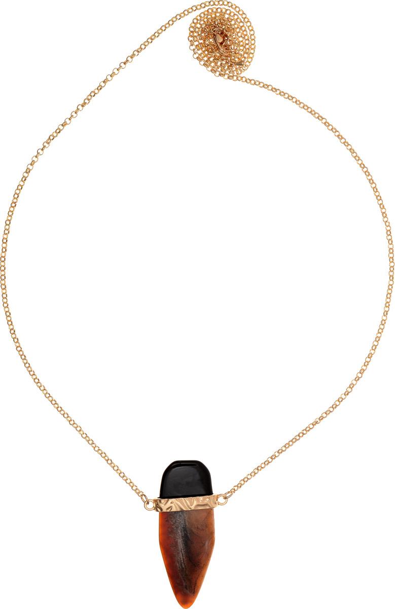 Колье Selena Accenta, цвет: коричневый, золотой. 1010235110102351Колье Selena Accenta изготовлено из латуни с гальваническим покрытием золотом и ацетата. Изделие оснащено удобным замком-карабином. Итальянский ацетат - это дорогой высококачественный полимер, широко применяемый в модной индустрии. Он обладает удивительной особенностью имитировать самые разные природные рисунки и фактуры. Коллекция Accenta - это гимн современности! Модели выполнены в стиле элегантный кэжуал и глэм-рок, они органично впишутся в образ и молодых девушек, и взрослых женщин, чьи взгляды на моду свежи и открыты новому. Все украшения Accenta комплектуются между собой и создают гармоничный ансамбль. Украшения можно носить в любое время года, они уместны на празднике, на прогулке и на работе.