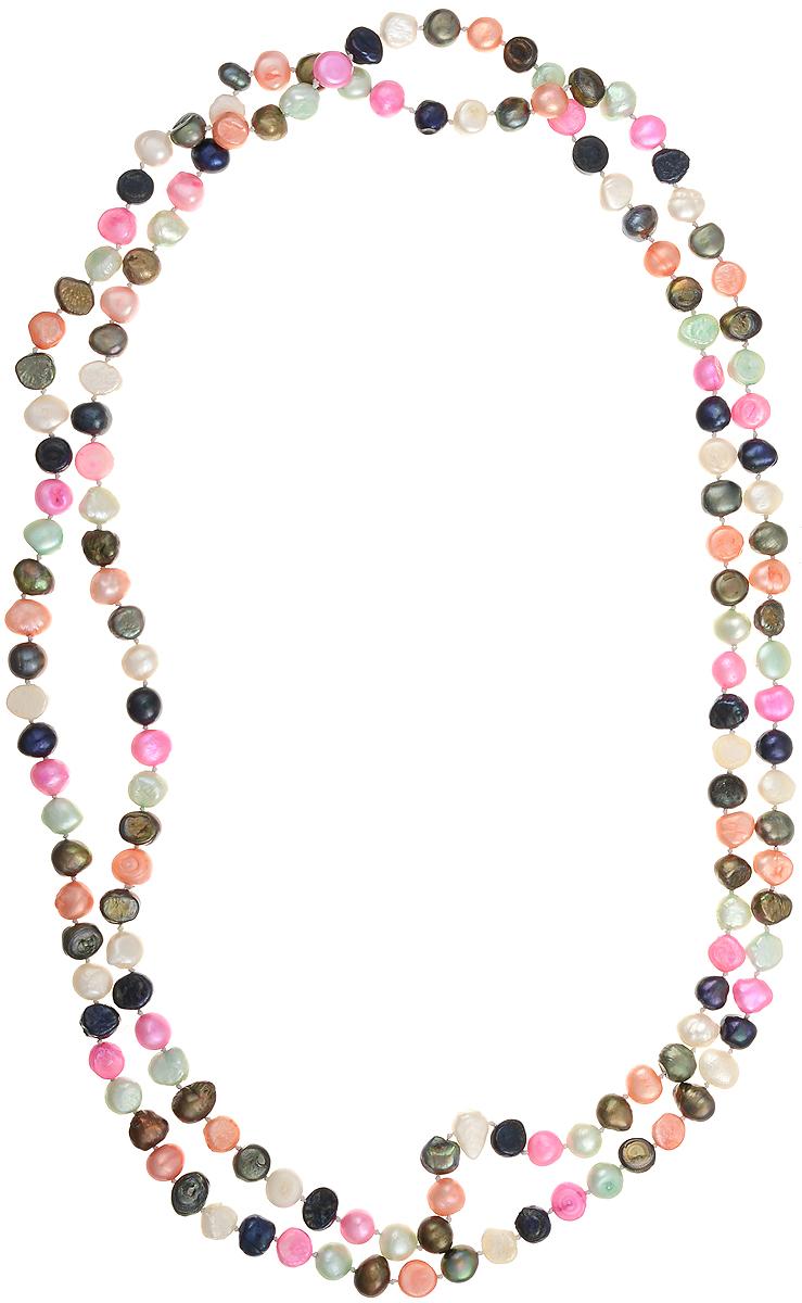 Бусы Art-Silver, цвет: мультиколор, длина 140 см. N06-06-837N06-06-837Бусы Art-Silver подчеркнут изящество и непревзойденный вкус своей обладательницы. Они выполнены из жемчуга и перламутра диаметром 8 мм. Такое украшение станет изюминкой вашего образа и добавит лоск и элегантность.