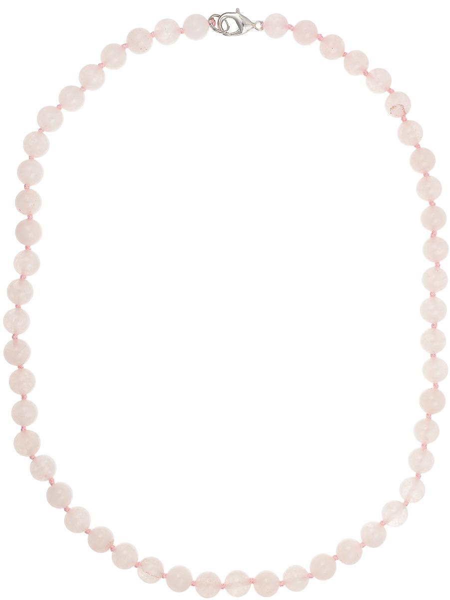 Бусы Art-Silver, цвет: светло-розовый, длина 50 см. Кв8-50-282Кв8-50-282Бусы Art-Silver подчеркнут изящество и непревзойденный вкус своей обладательницы. Они выполнены из бижутерного сплава и розового кварца диаметром 7 мм. Изделие оснащено удобным замком-карабином. Розовый кварц - одна из разновидностей кварца. С древних времен этот камень считается камнем любви и хорошего настроения. Его нежный очаровательный оттенок символизирует теплые зарождающиеся чувства. Также розовый кварц славится как камень «реабилитации». Он помогает избавляться от душевных переживаний и психологических травм. Розовый кварц обладает ещё одним полезным свойством - нейтрализует электромагнитное излучение, которое возникает от всех бытовых приборов, что особенно актуально для офисных работников. Однако необходимо помнить, что этот камень нельзя надолго оставлять под прямым лучами солнца и подвергать воздействию высоких температур, так как минерал может выгореть и потерять уникальный нежный оттенок.
