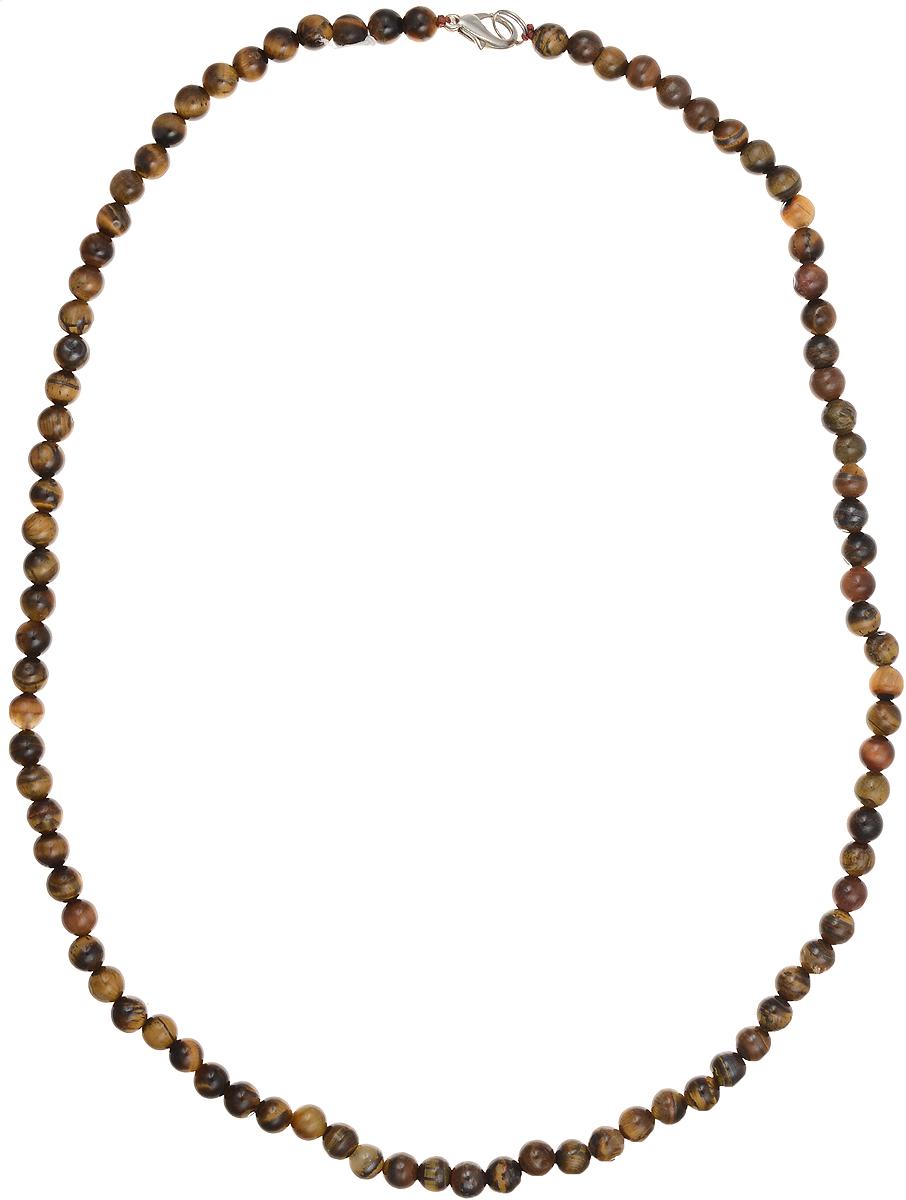 Бусы Art-Silver, цвет: коричневый, длина 55 см. ТГ6-55-305ТГ6-55-305Бусы Art-Silver подчеркнут изящество и непревзойденный вкус своей обладательницы. Они выполнены из бижутерного сплава и тигрового глаза диаметром 6 мм. Изделие оснащено удобным замком-карабином. Тигровый глаз представляет собой разновидность кварца, насыщенную волокнистым материалом. Благодаря этим волокнам у тигрового глаза возникает характерный волнообразный отлив и сияние, как у глаза хищных кошек. Талисман с тигровым глазом служит людям, занимающимся творческой деятельностью, а также тем, у кого работа или хобби связаны с риском для жизни или повышенным травматизмом. Например, брелок с тигровым глазом способен укрепить волю к победе у спортсмена.