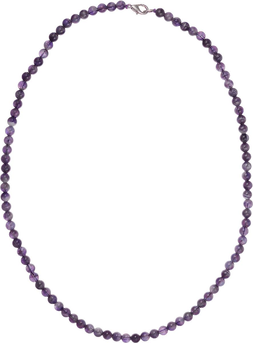 Бусы Art-Silver, цвет: фиолетовый, длина 55 см. Ам6-55-396Ам6-55-396Бусы Art-Silver подчеркнут изящество и непревзойденный вкус своей обладательницы. Они выполнены из бижутерного сплава и аметиста диаметром 6 мм. Изделие оснащено удобным замком-карабином. Аметист - камень чистоты, непорочности и преданности. Он поможет справиться с душевной болью и успокоит мысли, наполнит душу добрыми намерениями. Украшение из аметиста, положенное под подушку - залог хороших снов. Рекомендуется при стрессах и перевозбуждении.