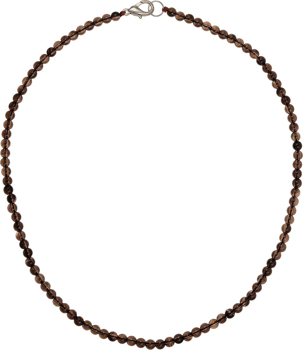 Бусы Art-Silver, цвет: коричневый, длина 40 см. РТ4-40-251РТ4-40-251Бусы Art-Silver подчеркнут изящество и непревзойденный вкус своей обладательницы. Они выполнены из бижутерного сплава и раухтопаза диаметром 4 мм. Изделие оснащено удобным замком-карабином. Раухтопаз (дымчатый кварц) является наиболее ценной разновидностью кварца и, по древним преданиям, выводит из организма негативную энергию, злобу и раздражение. Это один из самых «энергетических» темных камней. Минерал отличается необычной природной окраской, обладает особой утончённой эстетикой и аурой. Украшения с раухтопазами всегда смотрятся респектабельно и элегантно.