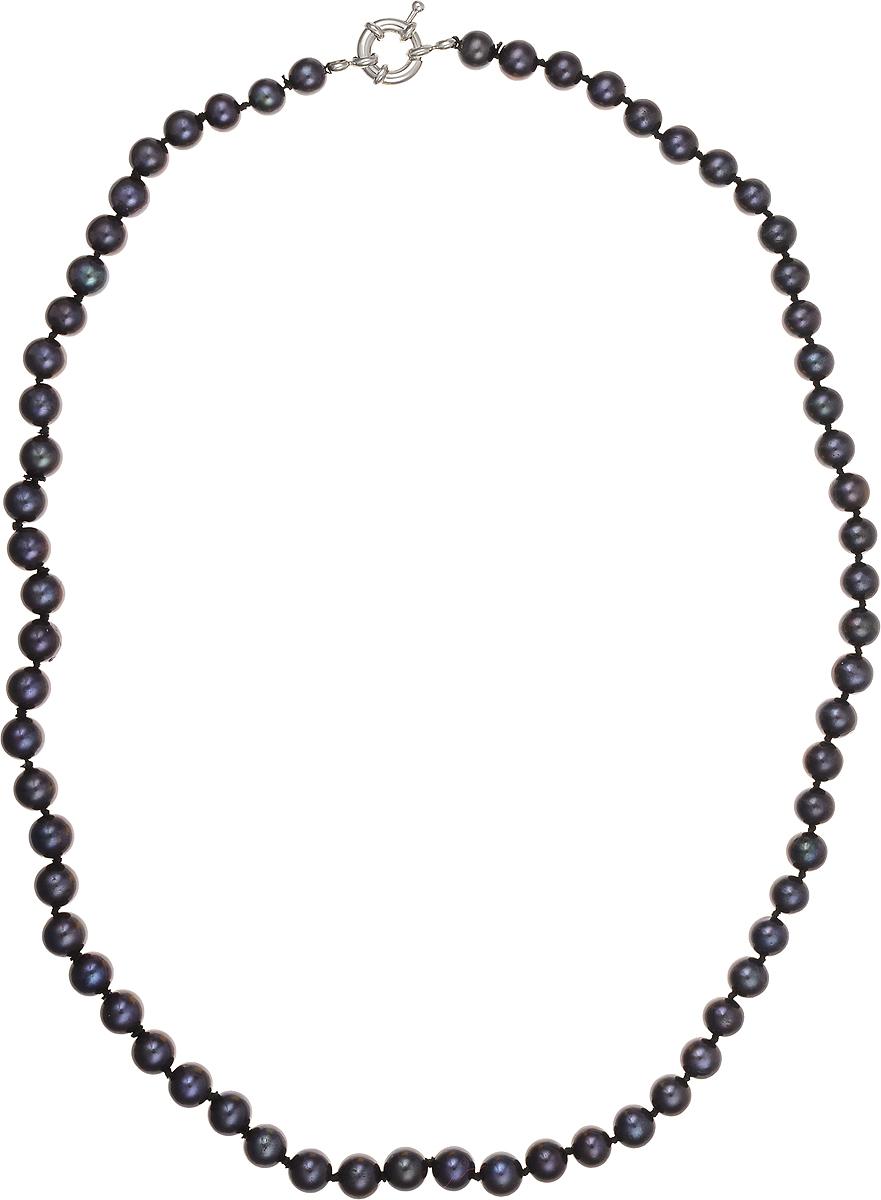 Бусы Art-Silver, цвет: синий, длина 50 см. КЖ7-8АА+50-1563КЖ7-8АА+50-1563Бусы Art-Silver подчеркнут изящество и непревзойденный вкус своей обладательницы. Они выполнены из бижутерного сплава и культивированного жемчуга диаметром 6 мм. Изделие оснащено удобным замком-карабином. Культивированный жемчуг - это практичный аналог природного жемчуга. Бусинки из прессованных раковин помещаются внутрь устрицы и возвращаются в воду. Когда бусины покрываются перламутром, их извлекают из моллюска. Форма жемчужины получается идеально ровной с приятным матовым блеском.