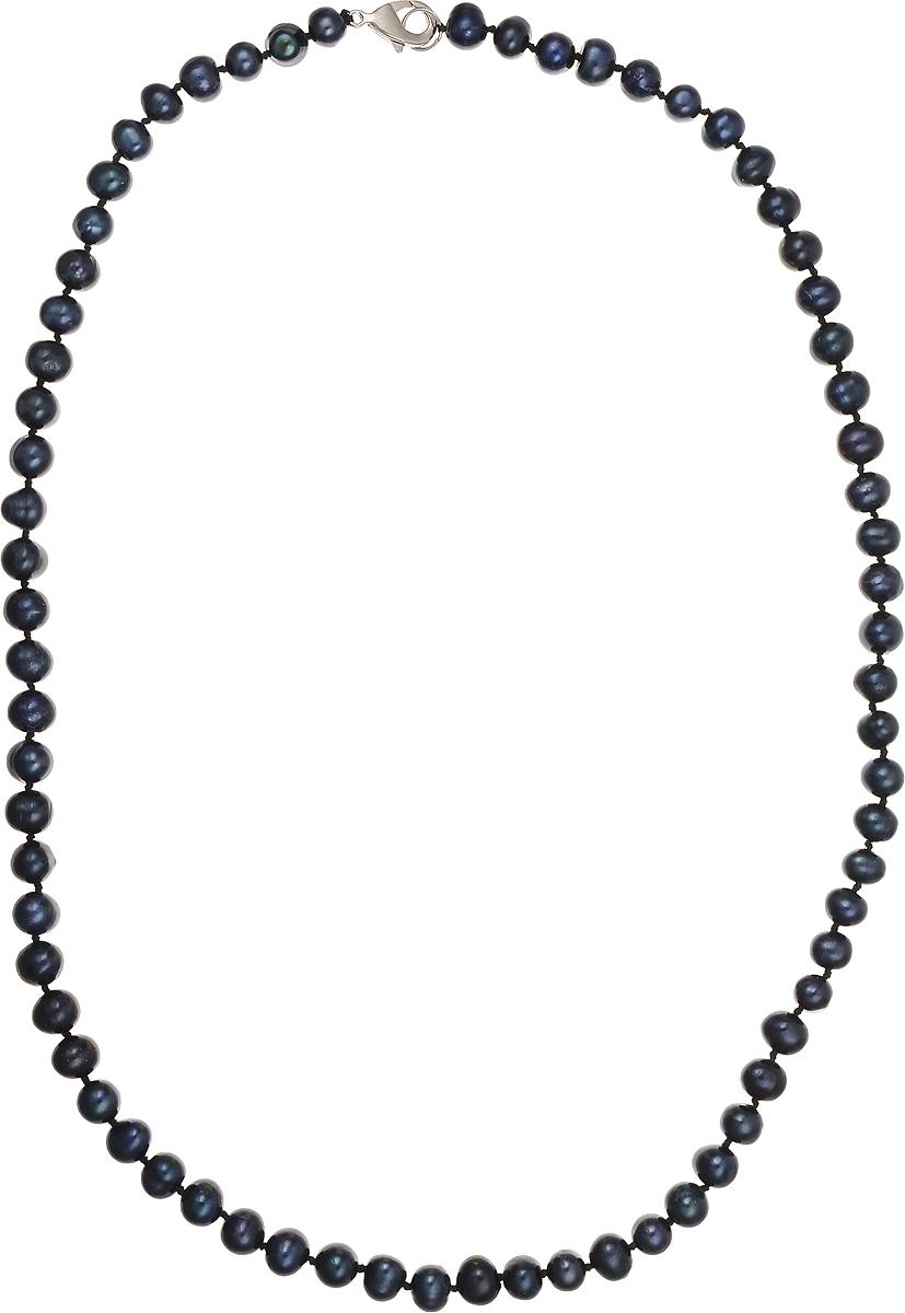 Бусы Art-Silver, цвет: синий, длина 55 см. КЖ7-8А+55-659КЖ7-8А+55-659Бусы Art-Silver подчеркнут изящество и непревзойденный вкус своей обладательницы. Они выполнены из бижутерного сплава и культивированного жемчуга диаметром 6 мм. Изделие оснащено удобным замком-карабином. Культивированный жемчуг - это практичный аналог природного жемчуга. Бусинки из прессованных раковин помещаются внутрь устрицы и возвращаются в воду. Когда бусины покрываются перламутром, их извлекают из моллюска. Форма жемчужины получается идеально ровной с приятным матовым блеском.