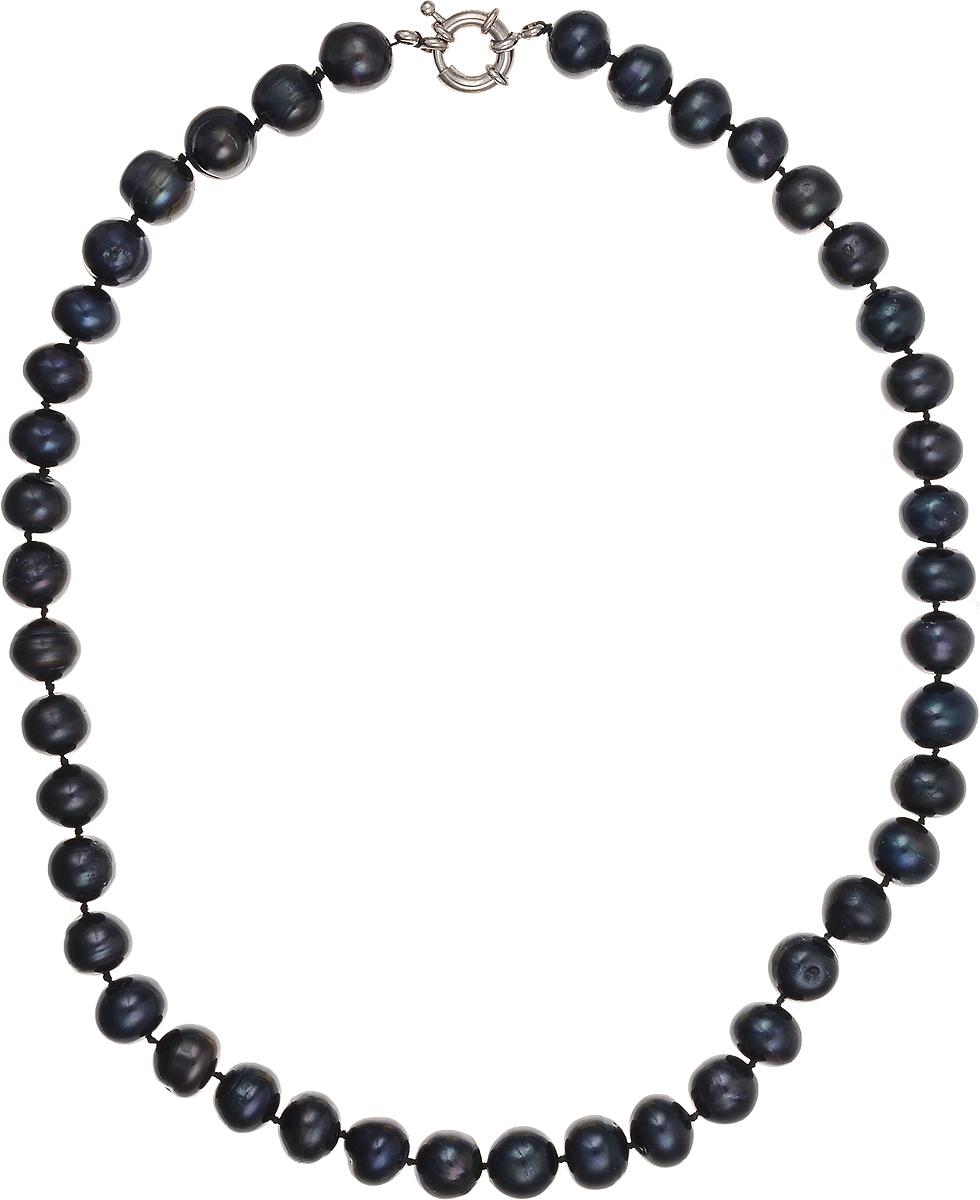 Бусы Art-Silver, цвет: синий, длина 45 см. КЖ11-12А45-684КЖ11-12А45-684Бусы Art-Silver подчеркнут изящество и непревзойденный вкус своей обладательницы. Они выполнены из бижутерного сплава и культивированного жемчуга диаметром 10 мм. Изделие оснащено удобным замком-карабином. Культивированный жемчуг - это практичный аналог природного жемчуга. Бусинки из прессованных раковин помещаются внутрь устрицы и возвращаются в воду. Когда бусины покрываются перламутром, их извлекают из моллюска. Форма жемчужины получается идеально ровной с приятным матовым блеском.