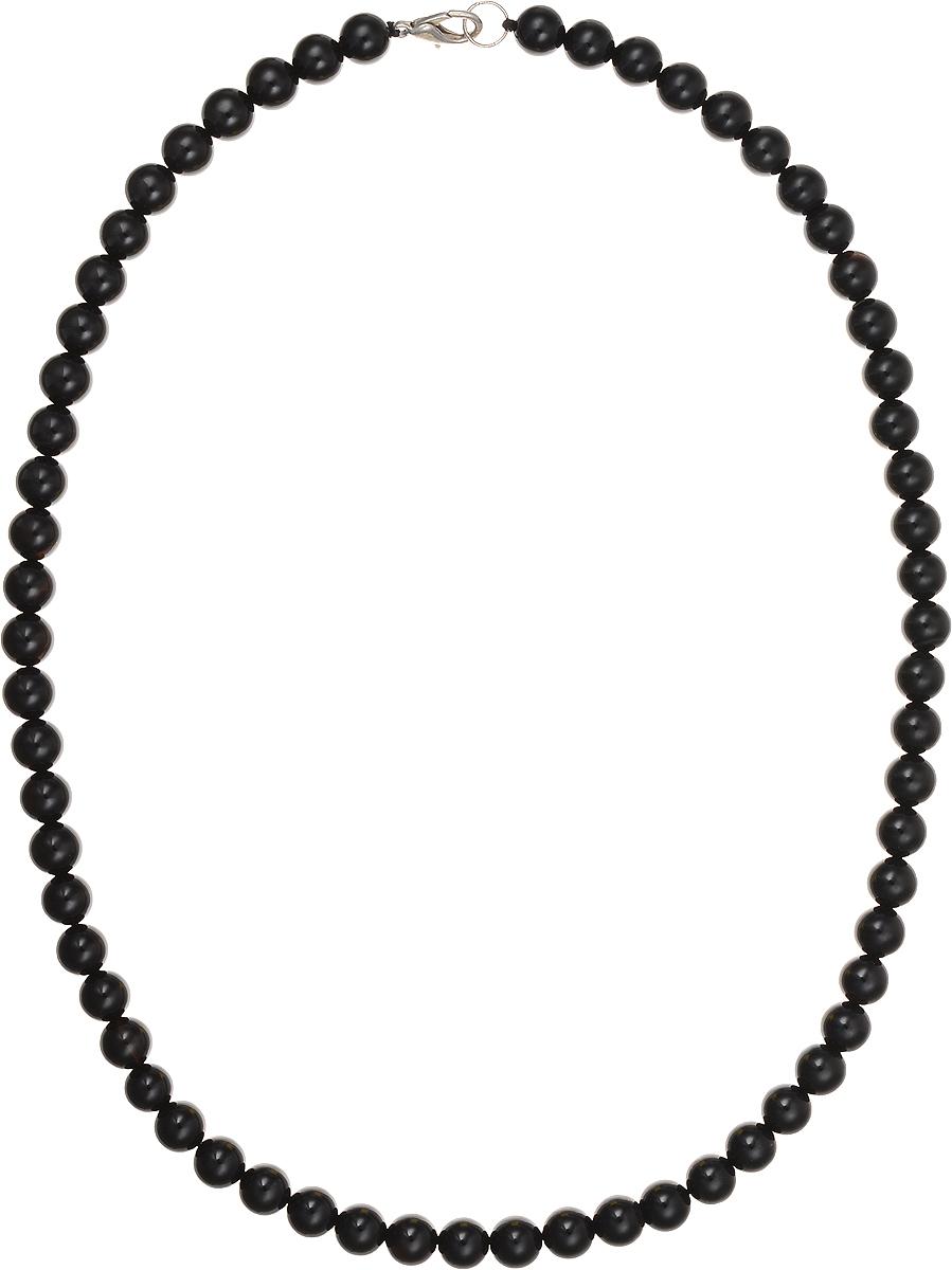 Бусы Art-Silver, цвет: черный, длина 50 см. ЧА8-50-254ЧА8-50-254Бусы Art-Silver подчеркнут изящество и непревзойденный вкус своей обладательницы. Они выполнены из бижутерного сплава и бусин из агата диаметром 7 мм. Изделие оснащено удобным замком-карабином. Агаты отличаются необыкновенным разнообразием окрасок и рисунков, но все они приносят владельцу чувства уверенности, спокойствия, равновесия. Украшения из агата защитят вас от энергетических вампиров и принесут счастье. Бусы из этого благородного камня выглядят как произведение искусства. Такое украшение станет изюминкой вашего образа и добавит лоск и элегантность.