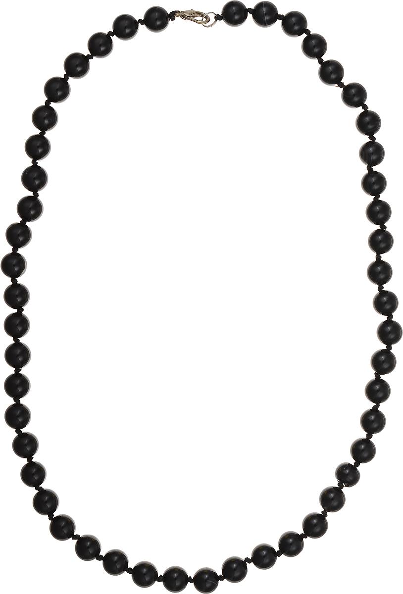 Бусы Art-Silver, цвет: черный, длина 60 см. ЧА10-60-423ЧА10-60-423Бижутерный сплав, агат.