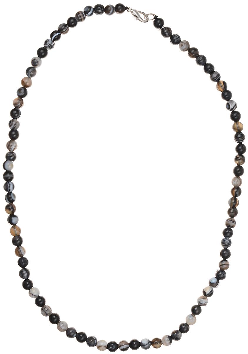Бусы Art-Silver, цвет: черный, серый, длина 50 см. А6-50-284А6-50-284Бусы Art-Silver подчеркнут изящество и непревзойденный вкус своей обладательницы. Они выполнены из бижутерного сплава и бусин из агата диаметром 6 мм. Изделие оснащено удобным замком-карабином. Агаты отличаются необыкновенным разнообразием окрасок и рисунков, но все они приносят владельцу чувства уверенности, спокойствия, равновесия. Украшения из агата защитят вас от энергетических вампиров и принесут счастье. Бусы из этого благородного камня выглядят как произведение искусства. Такое украшение станет изюминкой вашего образа и добавит лоск и элегантность.