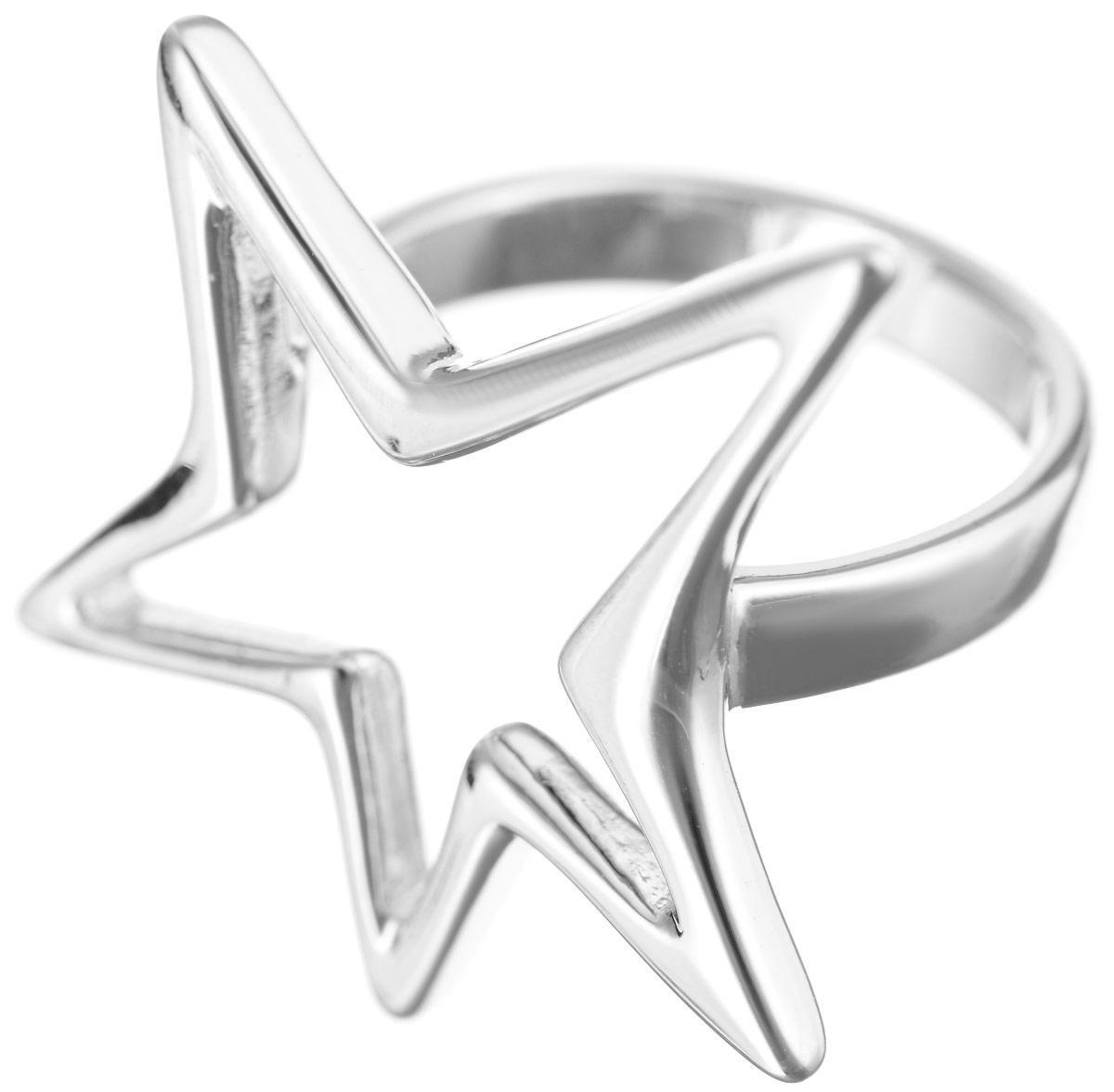 Кольцо Jenavi Celebrity. Целена, цвет: серебряный. e064f090. Размер 17e064f090Кольцо Jenavi Целена из коллекции Celebrity изготовлено из гипоаллергенного ювелирного сплава с покрытием родием в виде маленькой изящной звезды. Очарованию этого аксессуара невозможно противостоять. Это кольцо станет прекрасным аксессуаром для современной модницы, которая любит демонстрировать передовые взгляды и надевать самые актуальные украшения.
