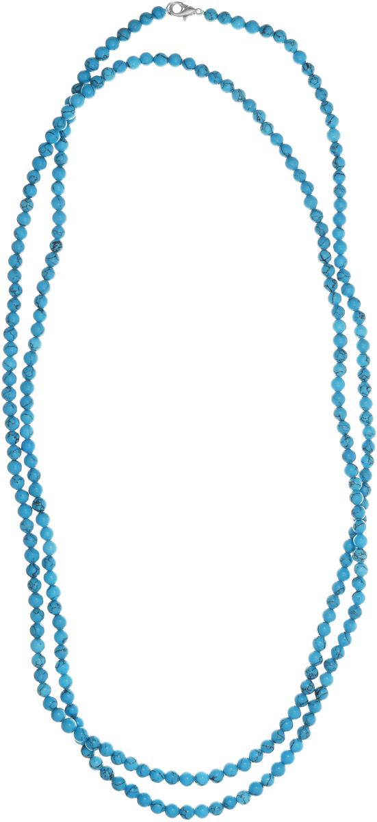 Бусы Art-Silver, цвет: голубой, длина 150 см. Б6-150-220Б6-150-220Бусы Art-Silver выполнены из бижутерного сплава и бирюзы. Изделие оснащено удобным замком-карабином.