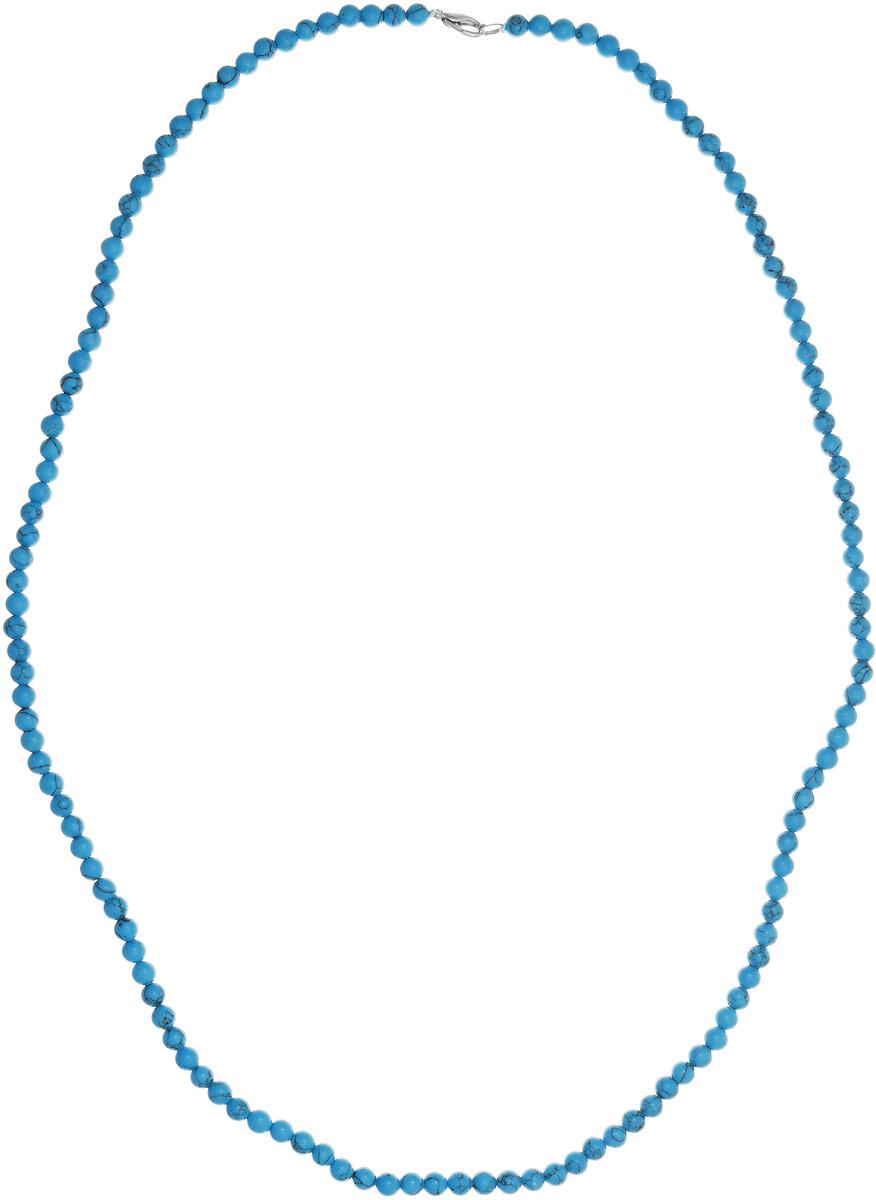 Бусы Art-Silver, цвет: голубой, длина 80 см. Б6-80-147Б6-80-147Бусы Art-Silver выполнены из бижутерного сплава и бирюзы. Изделие оснащено удобным замком-карабином.