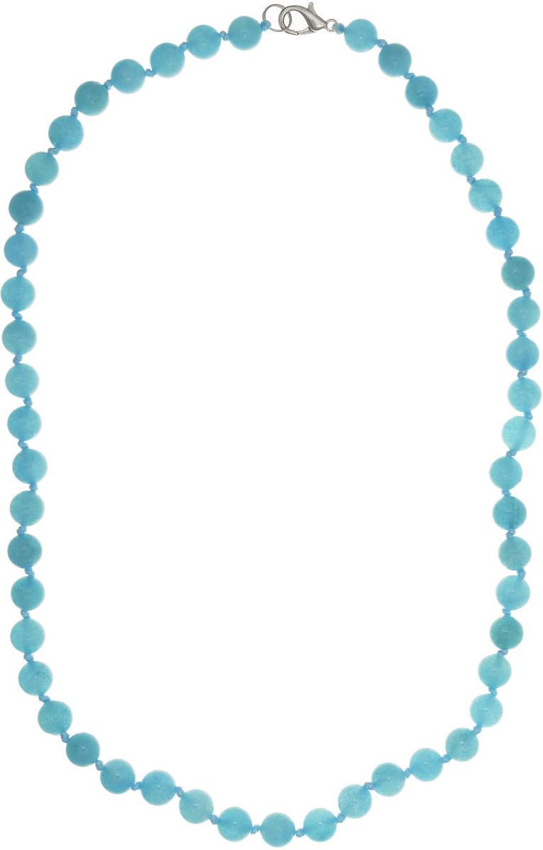 Бусы Art-Silver, цвет: бирюзовый, длина 50 см. АК8-50-296АК8-50-296Бусы Art-Silver выполнены из аквамарина, нанизанного на текстильную нить. Украшение имеет удобный замок-карабин из бижутерного сплава. Бусины диаметром 8 мм имеют оригинальную неоднородную расцветку, присущую натуральному аквамарину. Текстильная нить также окрашена в светло-голубой цвет.