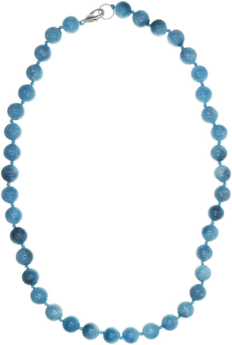 Бусы Art-Silver, цвет: голубой, длина 55 см. АК12-55-535АК12-55-535Бусы Art-Silver выполнены из бижутерного сплава и аквамарина. Изделие оснащено удобным замком-карабином.