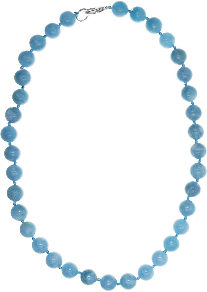 Бусы Art-Silver, цвет: голубой, длина 50 см. АК12-50-480АК12-50-480Бусы Art-Silver выполнены из бижутерного сплава и аквамарина. Изделие оснащено удобным замком-карабином.