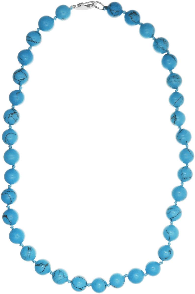 Бусы Art-Silver, цвет: голубой, длина 50 см. Б12-50-267Б12-50-267Бусы Art-Silver выполнены из бижутерного сплава и бирюзы. Изделие оснащено удобным замком-карабином.