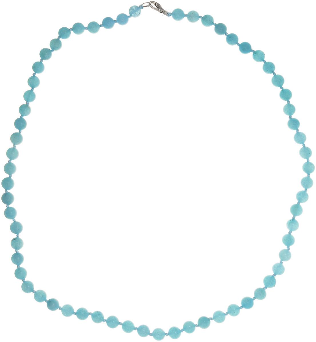 Бусы Art-Silver, цвет: голубой, длина 60 см. АК8-60-365АК8-60-365Бусы Art-Silver выполнены из бижутерного сплава и аквамарина. Изделие оснащено удобным замком-карабином.