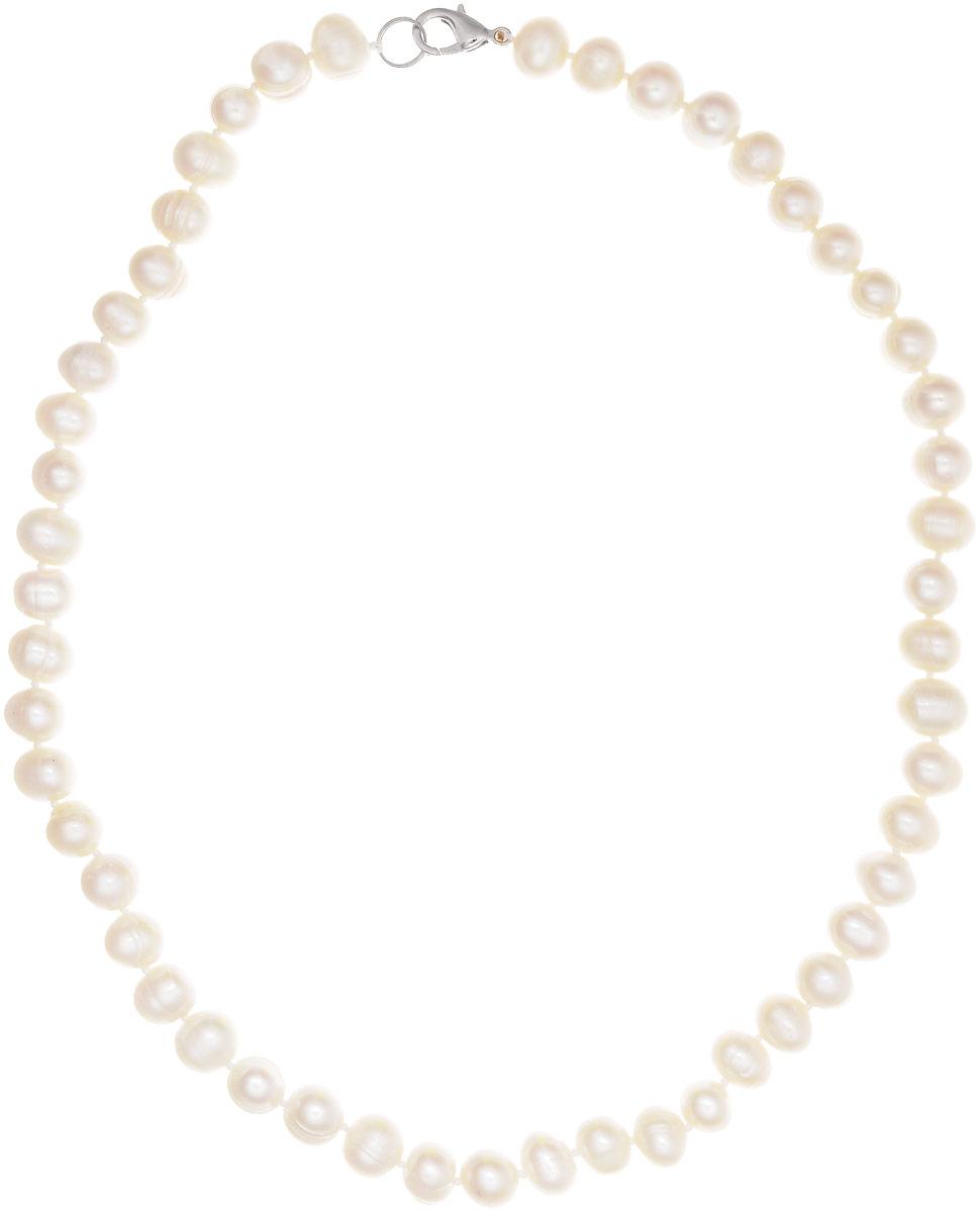 Бусы Art-Silver, цвет: белый, длина 50 см. КЖб7-8А+60-709КЖб7-8А+60-709Бусы Art-Silver выполнены из бижутерного сплава и культивированного жемчуга. Изделие оснащено удобным замком-карабином.
