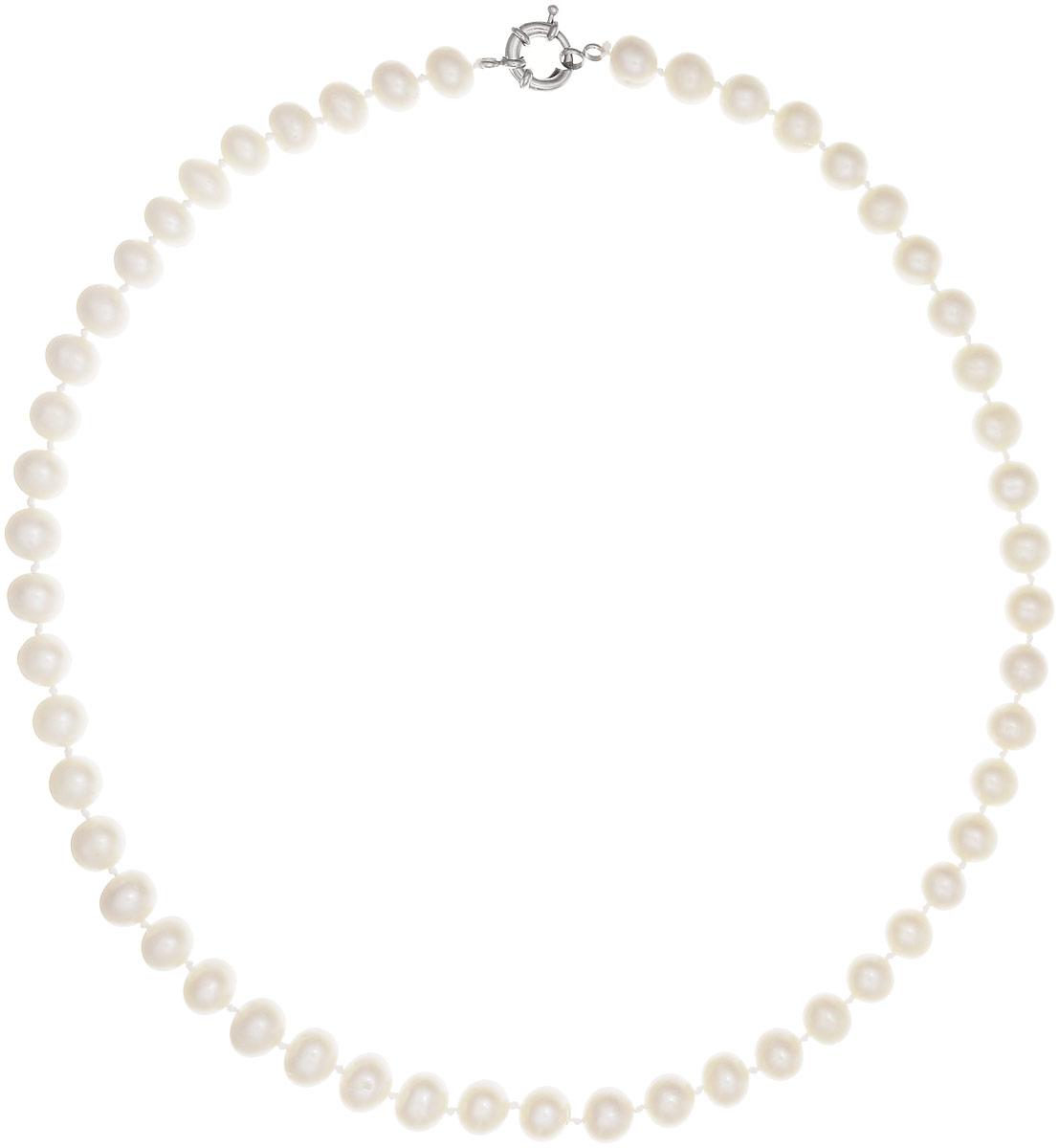 Бусы Art-Silver, цвет: белый, длина 60 см. КЖб10-11А60-1046КЖб10-11А60-1046Бусы Art-Silver выполнены из бижутерного сплава и культивированного жемчуга. Изделие оснащено удобной шпренгельной застежкой.