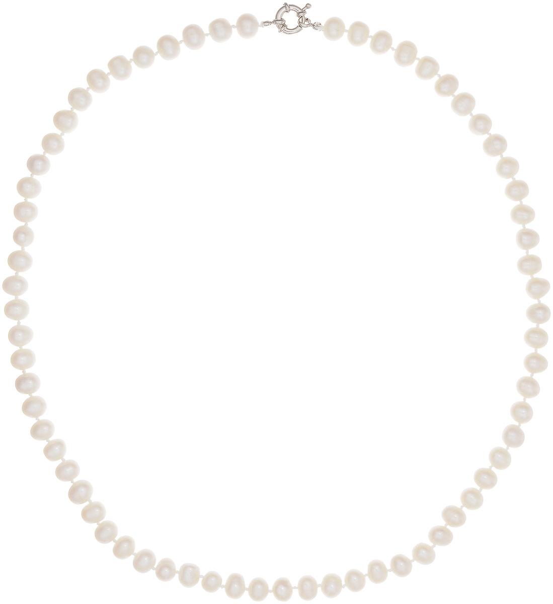 Бусы Art-Silver, цвет: белый, длина 60 см. КЖб8-9А+60-806КЖб8-9А+60-806Бусы Art-Silver выполнены из бижутерного сплава и культивированного жемчуга. Изделие оснащено удобной шпренгельной застежкой.