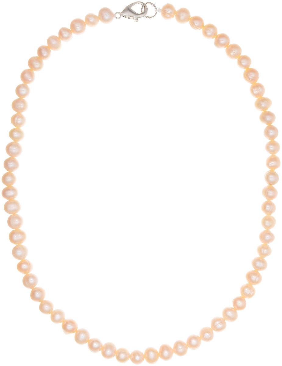 Бусы Art-Silver, цвет: пепельно-розовый, длина 40 см. КЖр6-7А+40-390КЖр6-7А+40-390Бусы Art-Silver изготовлены из культивированного жемчуга. Изделие оформлено однотонными бусинами и застегивается на замок-карабин из бижутерного сплава.