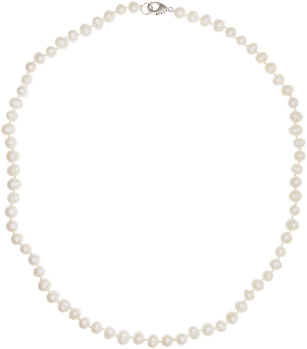 Бусы Art-Silver, цвет: белый, длина 55 см. КЖб7-8А55-513КЖб7-8А55-513Бусы Art-Silver выполнены из культивированного жемчуга, нанизанного на текстильную нить. Украшение имеет удобный замок-карабин из бижутерного сплава. Мелкие бусины диаметром 5-7 мм из натурального культивированного жемчуга нежно-бежевого цвета имеют слегка неоднородную форму, что подчеркивает естественное происхождение жемчужин. Благородный перламутровый блеск жемчуга подчеркнет вашу элегантность и превосходный вкус.