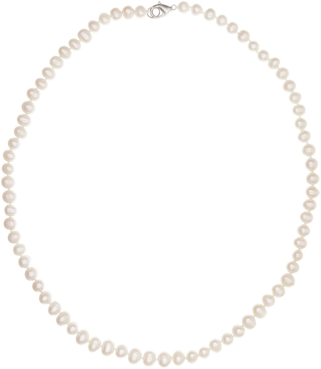 Бусы Art-Silver, цвет: молочный, длина 55 см. КЖб7-8А+55-660КЖб7-8А+55-660Бусы Art-Silver изготовлены из культивированного жемчуга. Изделие оформлено однотонными бусинами и застегивается на замок-карабин из бижутерного сплава.