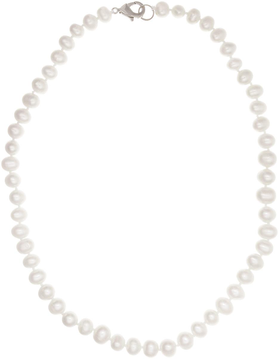 Бусы Art-Silver, цвет: белый, длина 40 см. КЖб7-8А+40-489КЖб7-8А+40-489Бусы Art-Silver изготовлены из культивированного жемчуга. Изделие оформлено однотонными бусинами и застегивается на замок- карабин из бижутерного сплава.