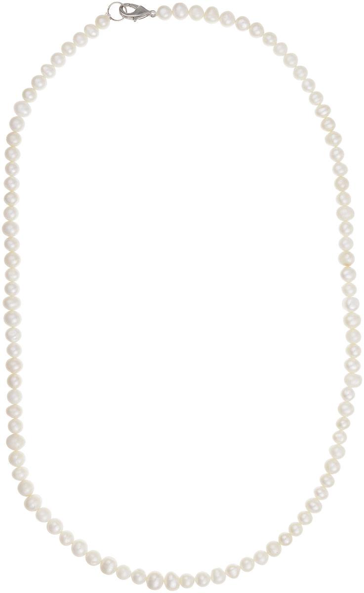 Бусы Art-Silver, цвет: белый, длина 60 см. КЖб6-7А60-446КЖб6-7А60-446Бусы Art-Silver выполнены из бижутерного сплава и культивированного жемчуга. Изделие оснащено удобным замком-карабином.