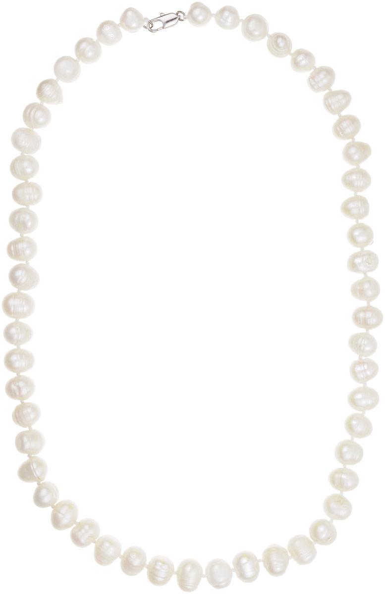 Бусы Art-Silver, цвет: белый, длина 50 см. КЖб9-1050-212КЖб9-1050-212Бусы Art-Silver выполнены из бижутерного сплава и культивированного жемчуга. Изделие оснащено удобным замком-карабином.
