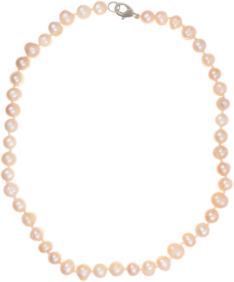Бусы Art-Silver, цвет: пепельно-розовый. КЖр8-9А40-342КЖр8-9А40-342Бусы Art-Silver изготовлены из культивированного жемчуга. Изделие оформлено однотонными бусинами и застегивается на замок- карабин из бижутерного сплава.