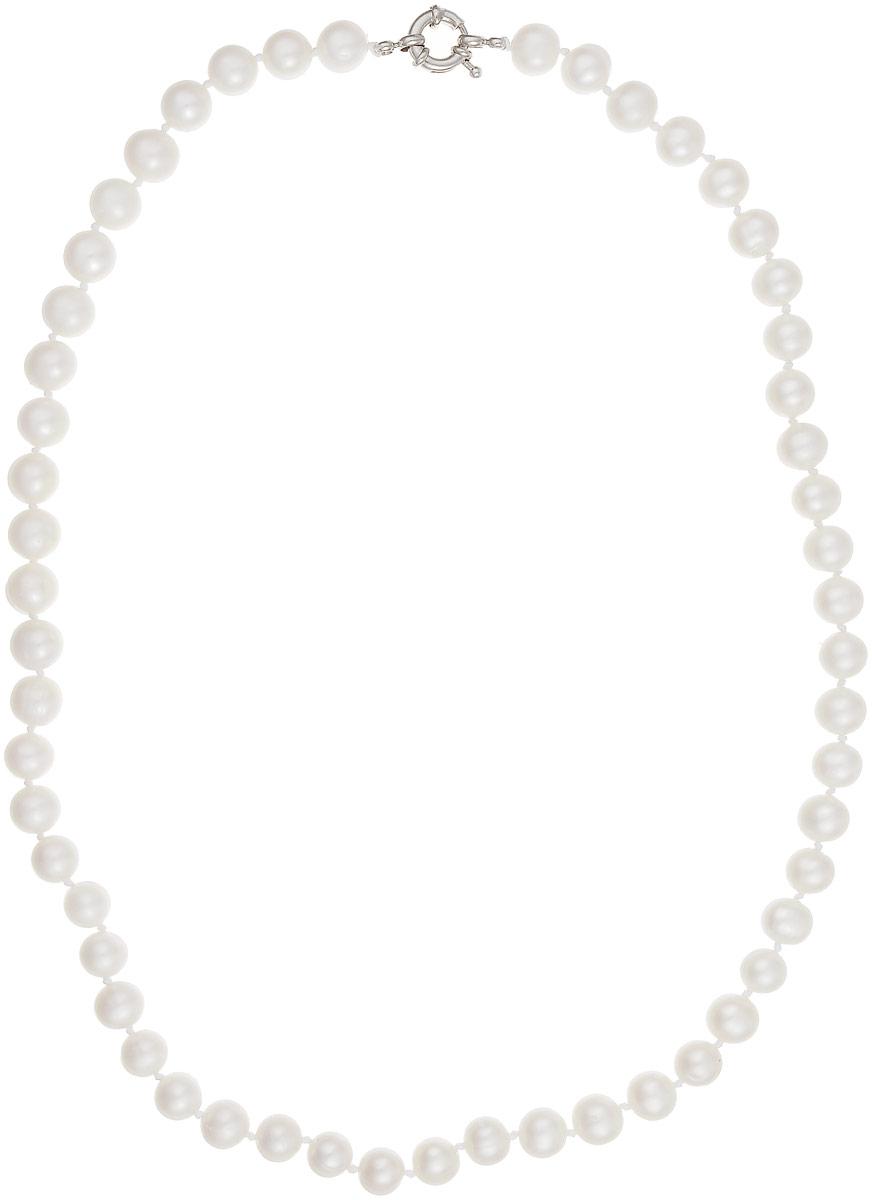 Бусы Art-Silver, цвет: белый, длина 55 см. КЖб9-10АА55-1442КЖб9-10АА55-1442Бусы Art-Silver выполнены из бижутерного сплава и культивированного жемчуга. Изделие оснащено удобной шпренгельной застежкой.