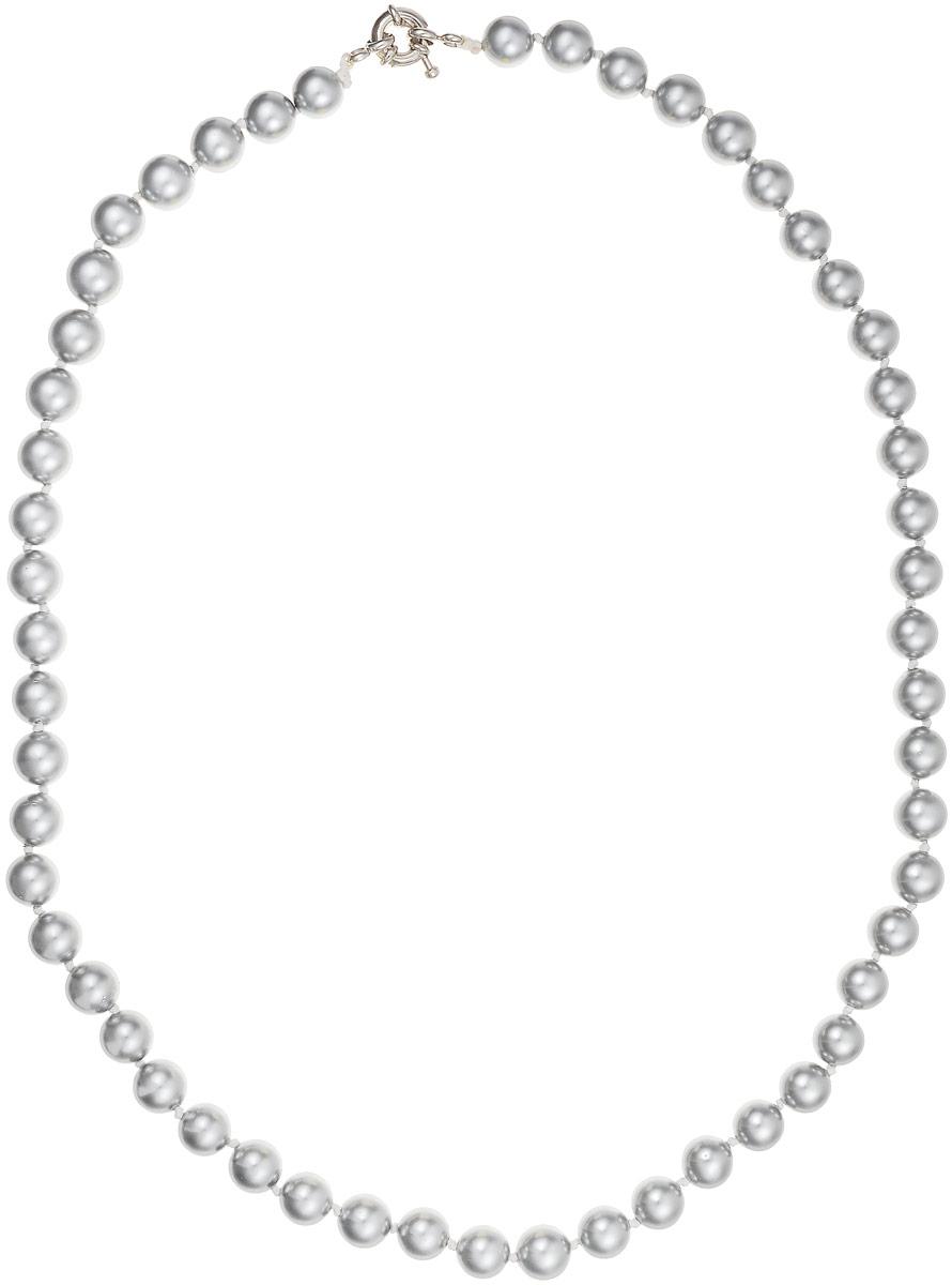 Бусы Art-Silver, цвет: серый, длина 50 см. МАЙ30850-392МАЙ30850-392Бусы Art-Silver выполнены из бижутерного сплава и искусственного жемчуга. Изделие оснащено удобной шпренгельной застежкой.