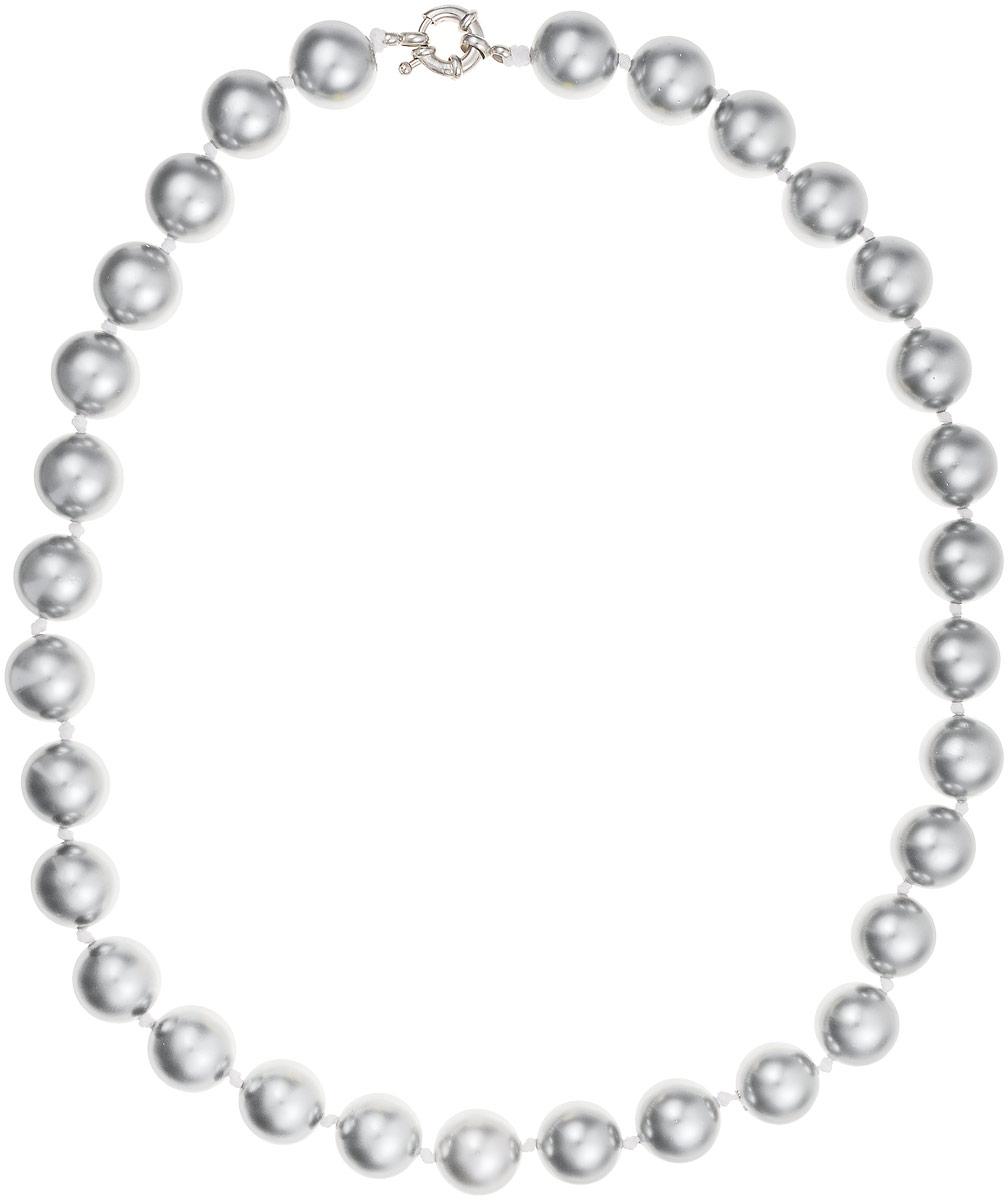 Бусы Art-Silver, цвет: серый, длина 50 см. МАЙ31450-810МАЙ31450-810Бусы Art-Silver выполнены из бижутерного сплава и искусственного жемчуга. Изделие оснащено удобной шпренгельной застежкой.