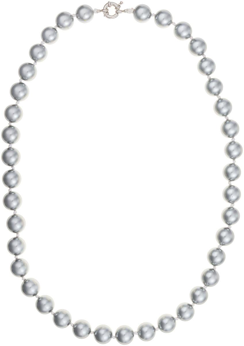 Бусы Art-Silver, цвет: серый металлик, длина 55 см. МАЙ31255-662МАЙ31255-662Бусы Art-Silver изготовлены из материала майорика, который схож по свойствам с натуральным жемчугом. Изделие оформлено крупными однотонными бусинами и застегивается на шпренгельный замок из бижутерного сплава.