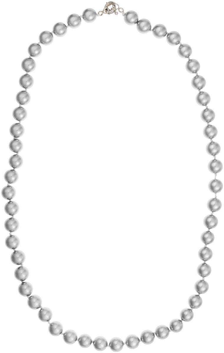 Бусы Art-Silver, цвет: серый металлик, длина 60 см. МАЙ31060-593МАЙ31060-593Бусы Art-Silver изготовлены из материала майорика, который схож по свойствам с натуральным жемчугом. Изделие оформлено однотонными бусинами и застегивается на шпренгельный замок из бижутерного сплава.