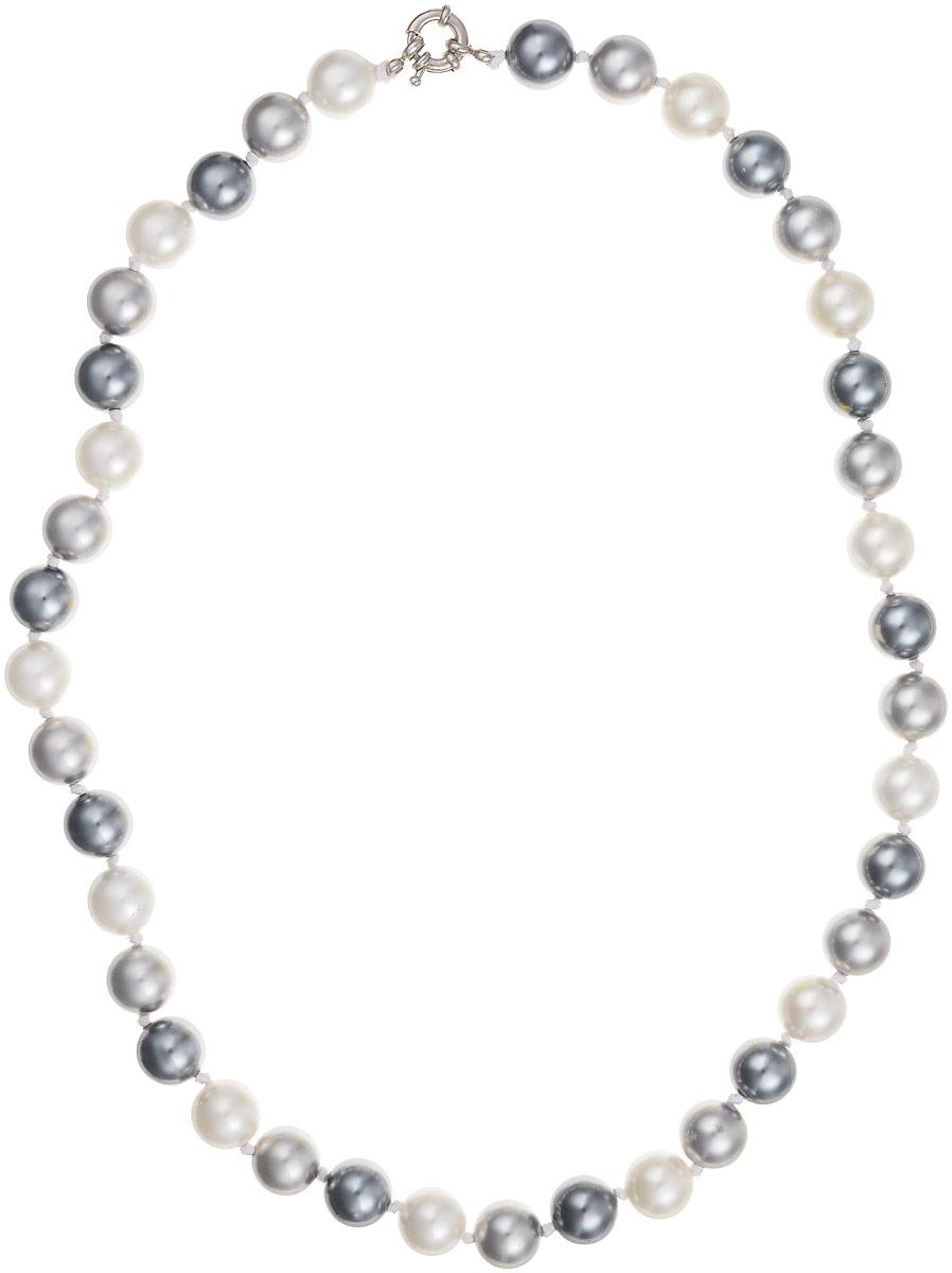 Бусы Art-Silver, цвет: серебристый, белый, длина 55 см. МАЙ21255-678МАЙ21255-678Бусы Art-Silver выполнены из имитации жемчуга и дополнены крупным удобным шпренгельным замочком из бижутерного сплава. Крупные бусины диаметром 10 мм выполнены в различных оттенках и чередуются, создавая красивый цветовой градиент. Материал бусин по свойствам и виду максимально близок к натуральному жемчугу.
